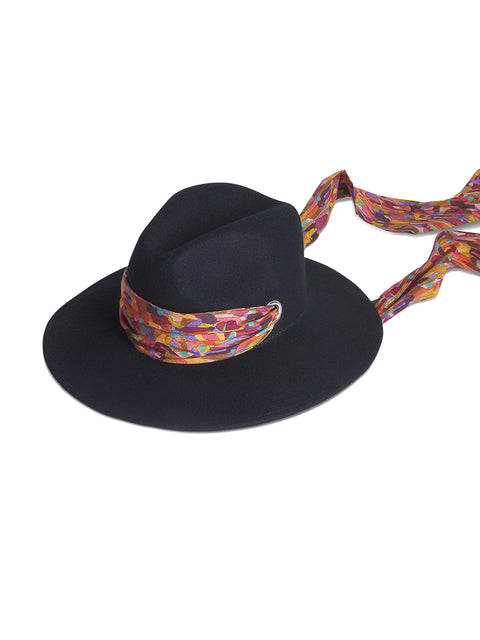 Maya Felt Fedora with Interchangeable Sash