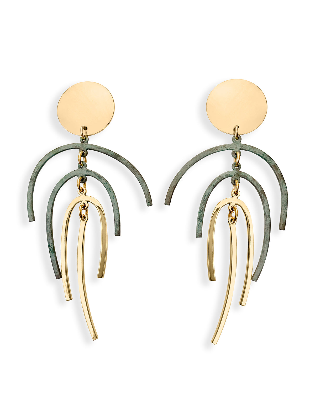 Frond Drop Earrings