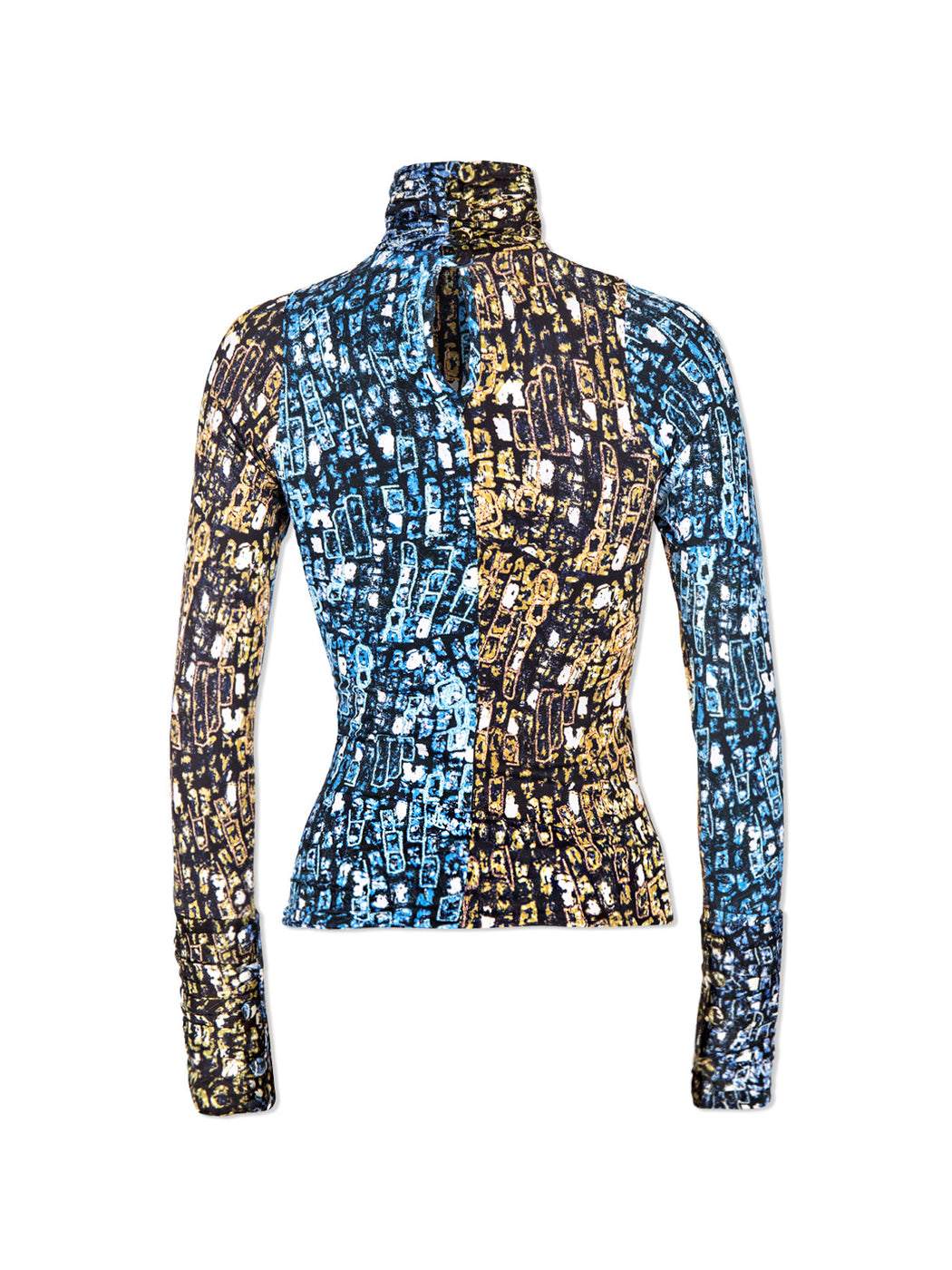 Lisa Folawiyo Antique Baroque High Neck Top Industrie Africa