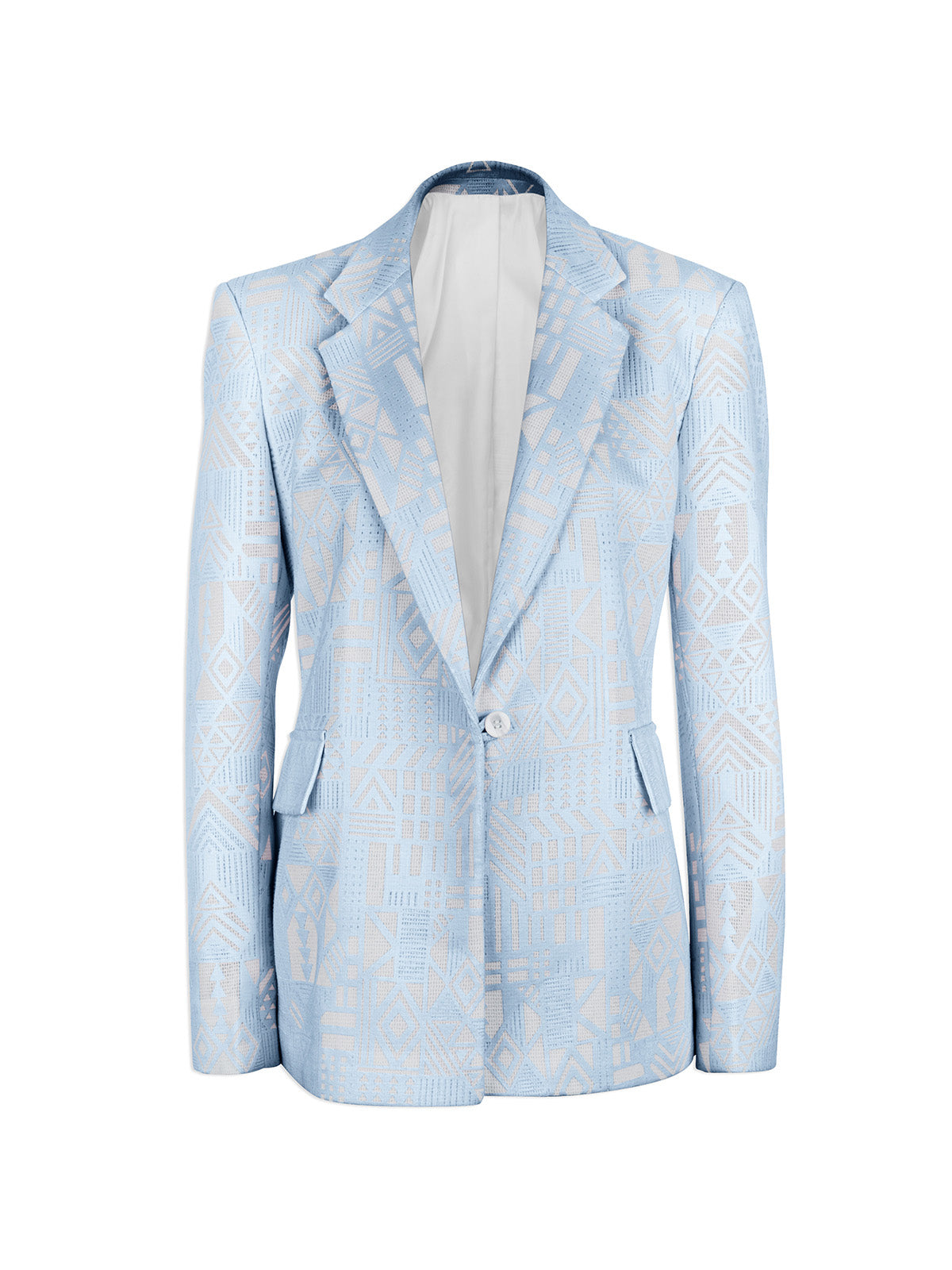 Blue Tribal Lace Blazer