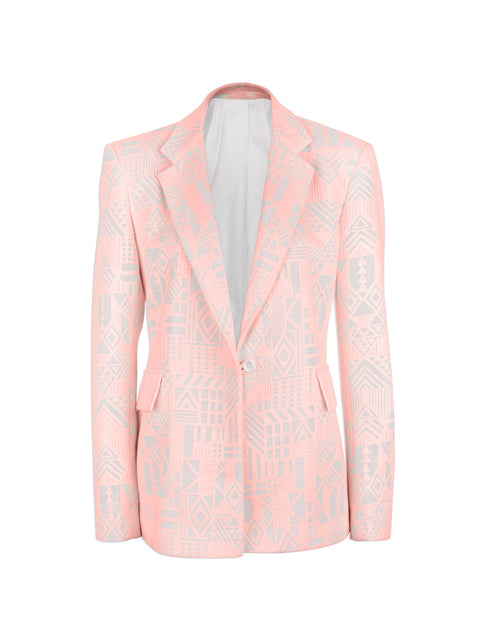 Peach Tribal Lace Blazer