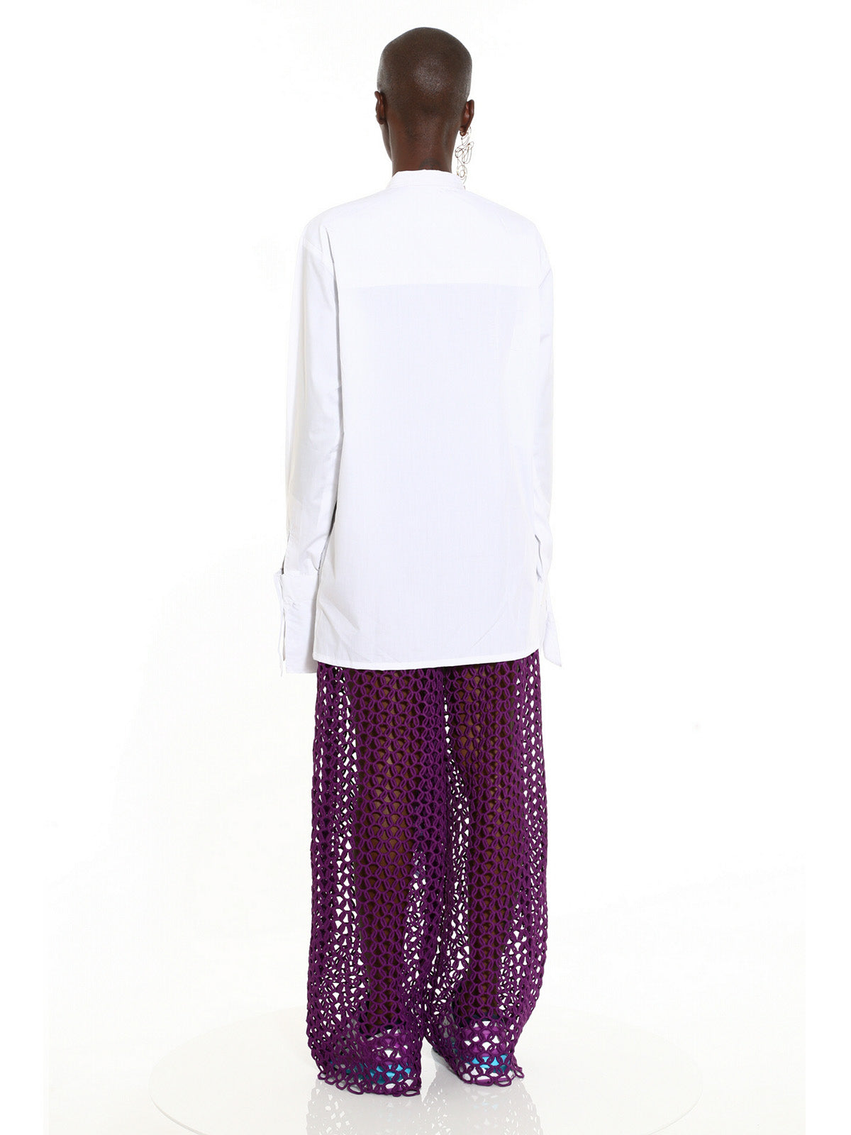 Ifunanya Draped White Shirt