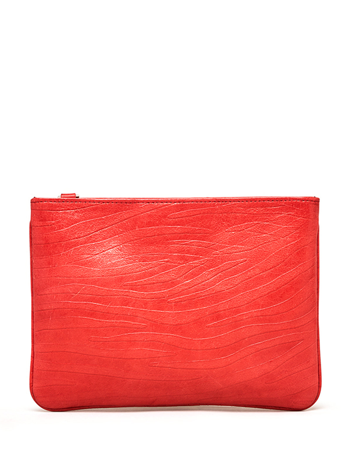 Scarlet Red Aja Clutch with Zen Zulu Horn Charm