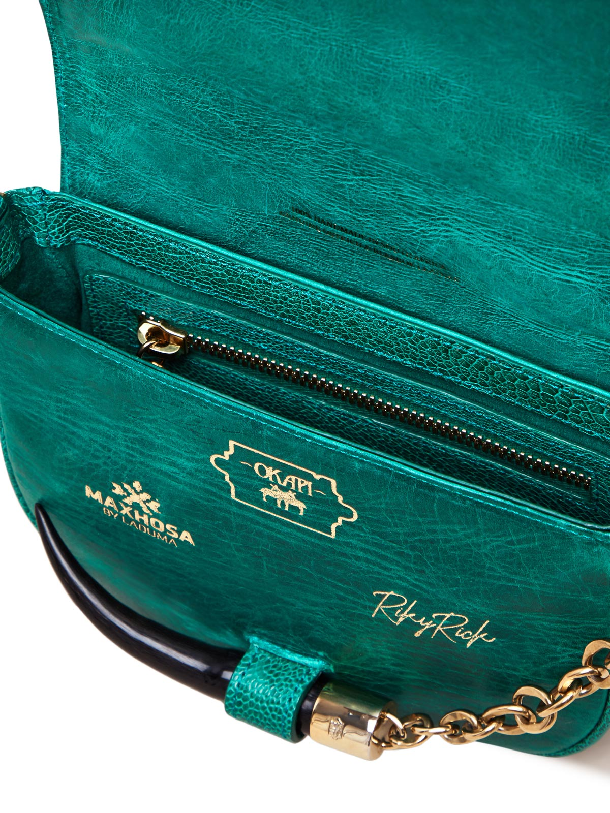 Small Brilliant Green Yemaja Shoulder Bag