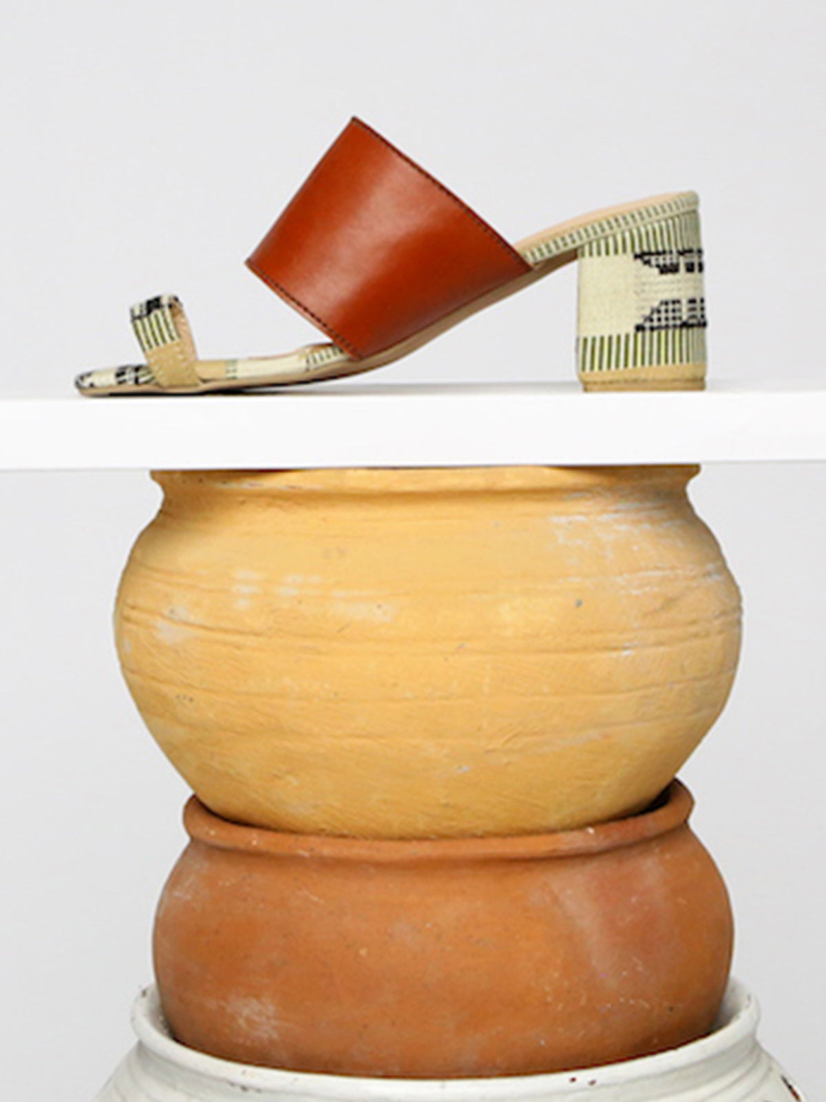 Leather Kakawa Toe Mule