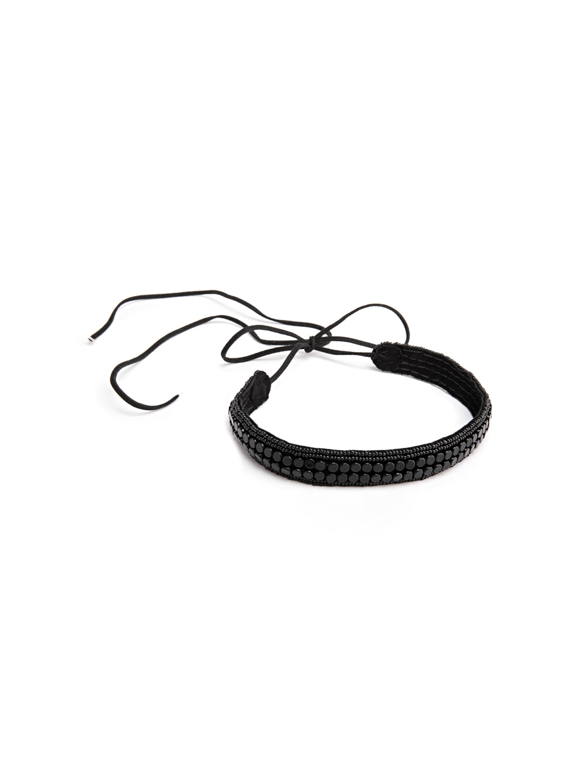 Narrow Leather Stripe Choker