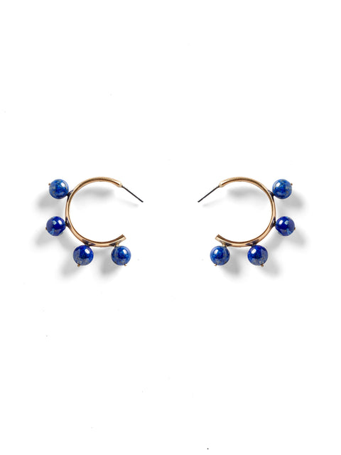 Sodalite Garland Hoop Earrings