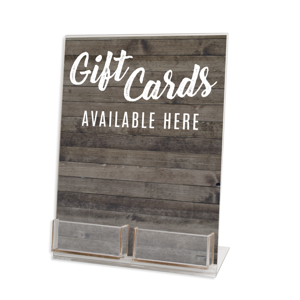 Two Gift Card Display Stand