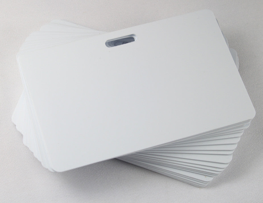White ID Card Blanks for Thermal Printers (Luggage Slot Long Side)