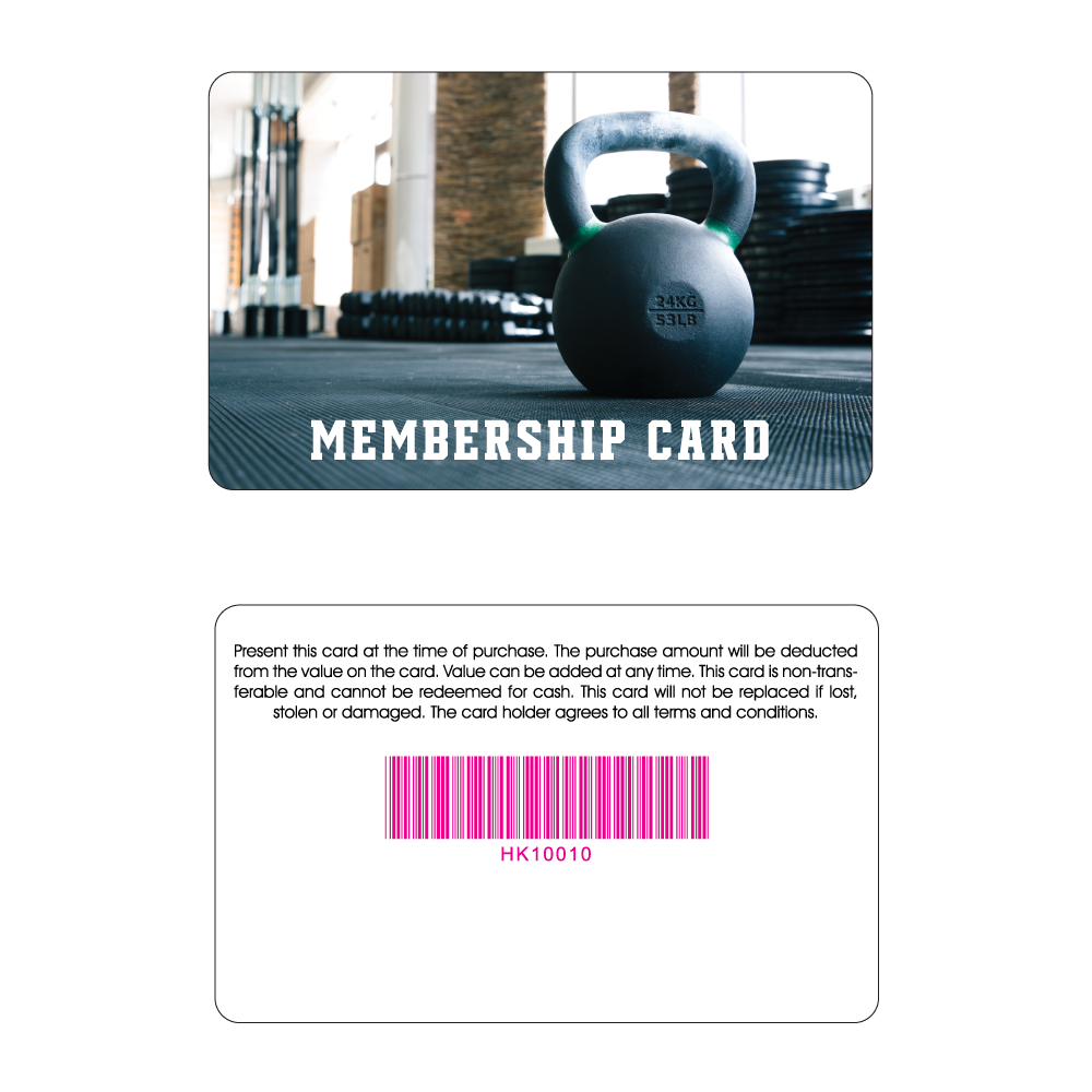Gym Membership Card - Kettlebell