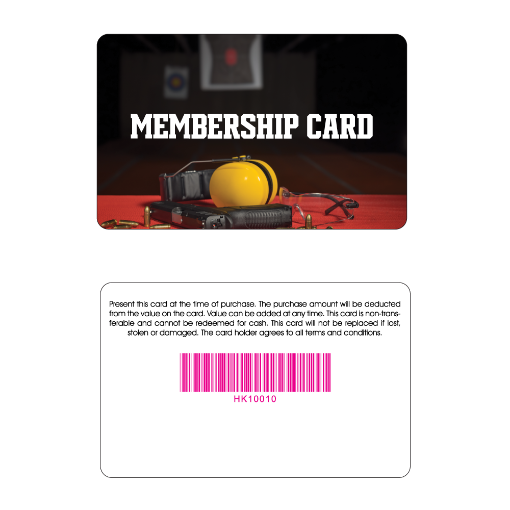Shooting Range Membership Card