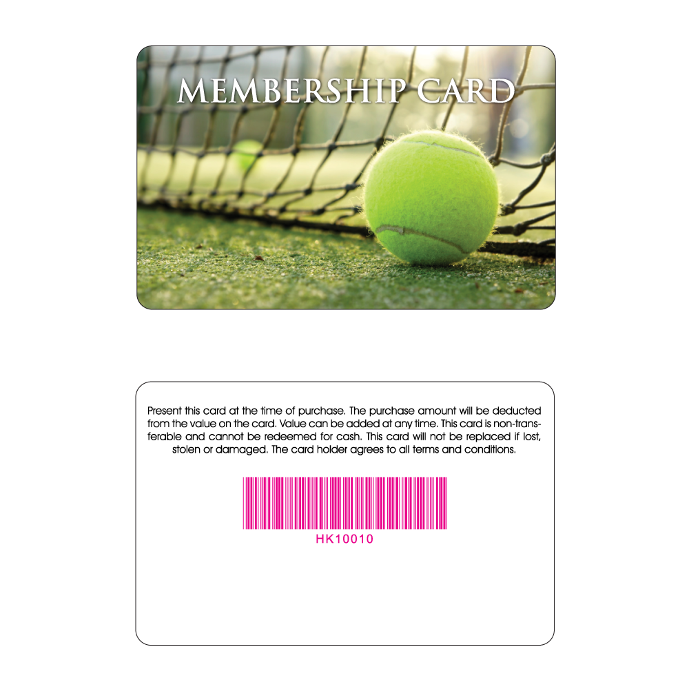 Tennis Club Membership Card - Tennis Ball