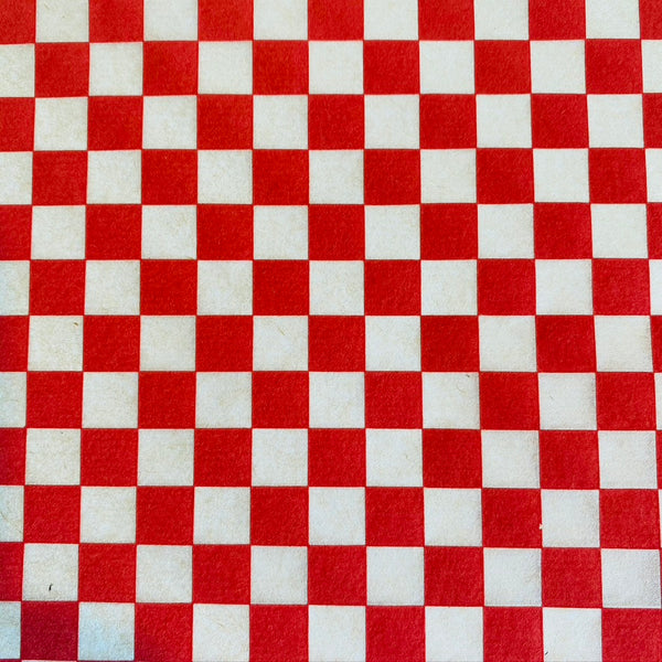 Checkerboard - Underglaze Transfer Sheet - You Choose Color