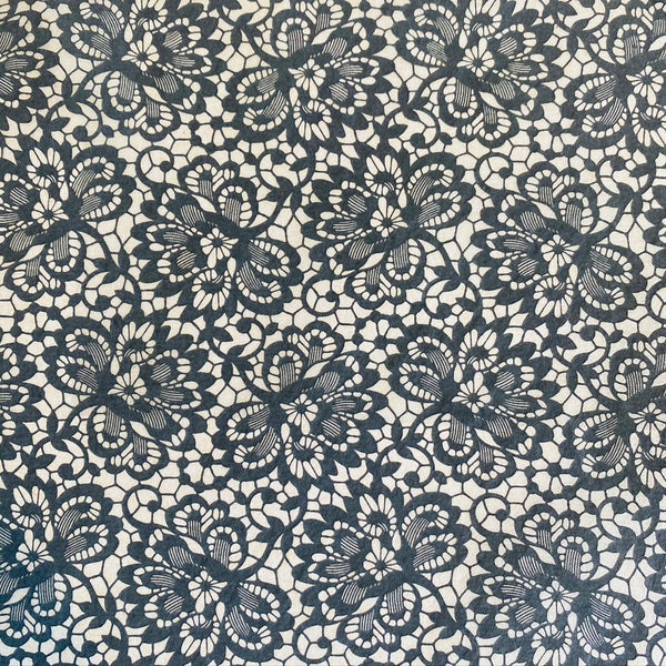 Floral Lace - Underglaze Transfer Sheet - You Choose Color