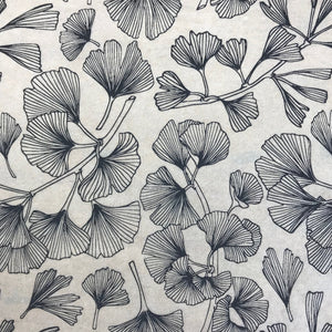 Ginkgo Leaves - Underglaze Transfer Sheet - You Choose Color