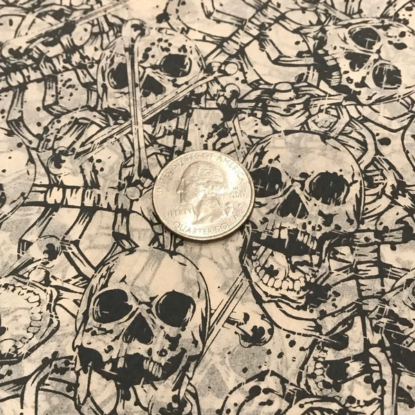 Skeletons - Underglaze Transfer Sheet - You Choose Color