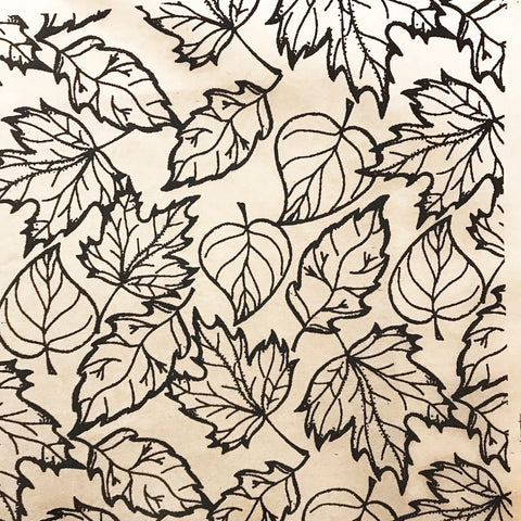 Fall Leaves - Underglaze Transfer Sheet - Black