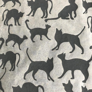 Cats - Underglaze Transfer Sheet - Black