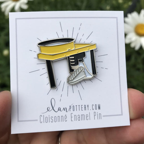 Pottery Wheel Enamel Pin (you choose color)