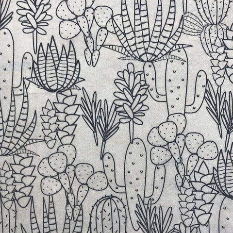 Cacti - Underglaze Transfer Sheet - You Choose Color