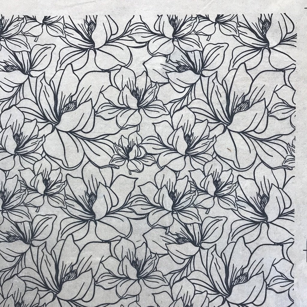 Magnolia - Underglaze Transfer Sheet - You Choose Color