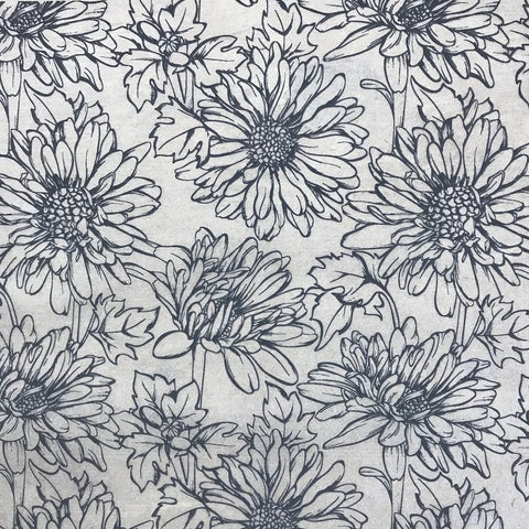 Daisy - Underglaze Transfer Sheet - You Choose Color