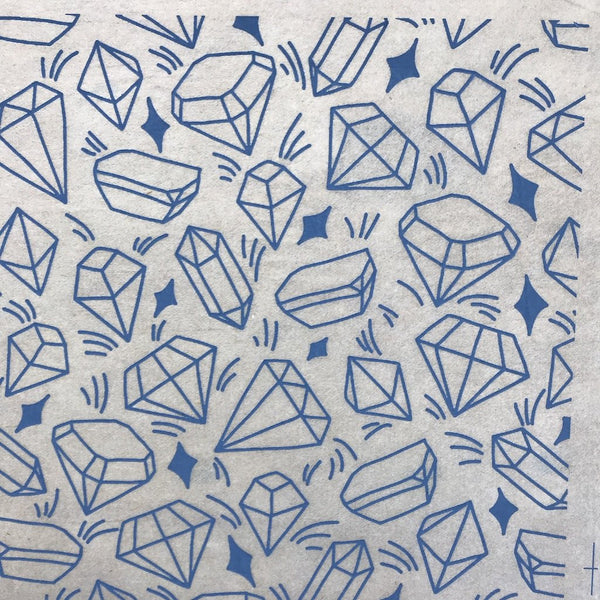 Crystals - Underglaze Transfer Sheet - You Choose Color
