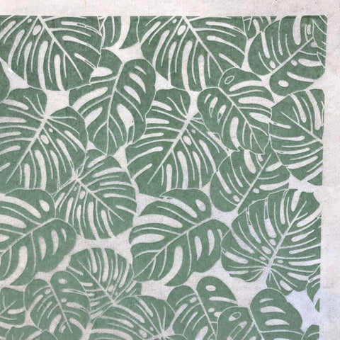 Monstera Leaves - Underglaze Transfer Sheet - You Choose Color