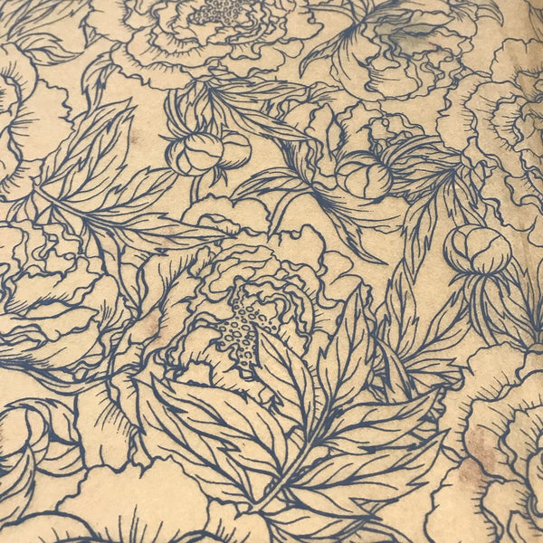 Peonies - Underglaze Transfer Sheet - You Choose Color