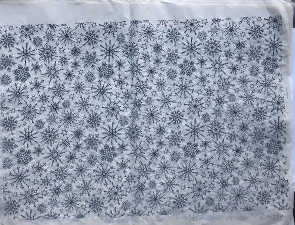 Snowflakes - Underglaze Transfer Sheet - You Choose Color