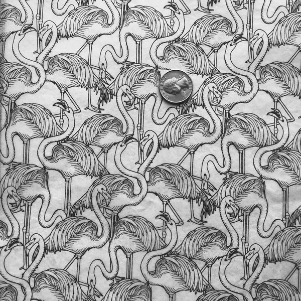 Flamingos - Underglaze Transfer Sheet - You Choose Color