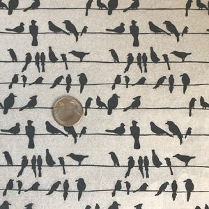 Birds on a Wire - Underglaze Transfer Sheet - Black