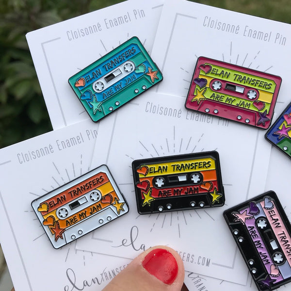 Elan Transfers Are My Jam Mixtape - Enamel Pin