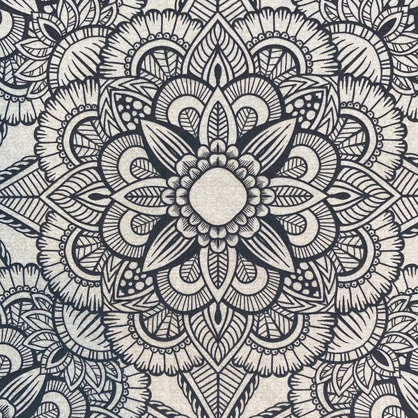 Mandala (open center) - Underglaze Transfer Sheet - You Choose Color