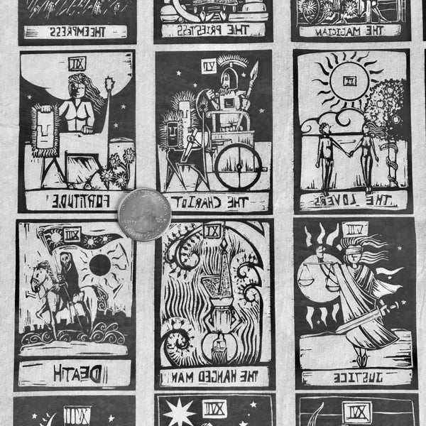 Tarot Cards - Underglaze Transfer Sheet - Black