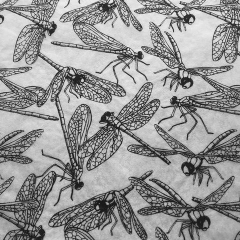 Dragonflies - Underglaze Transfer Sheet - Black