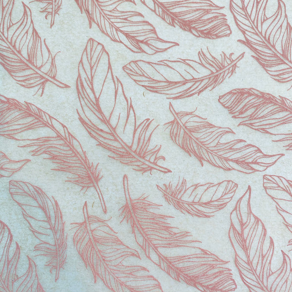 Feathers - Underglaze Transfer Sheet - You Choose Color