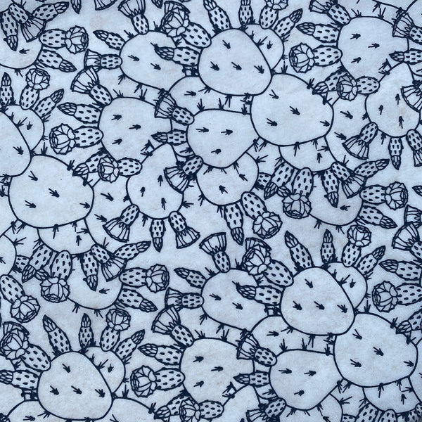 Prickly Pear by Seedling Clayworks - Underglaze Transfer Sheet - Black