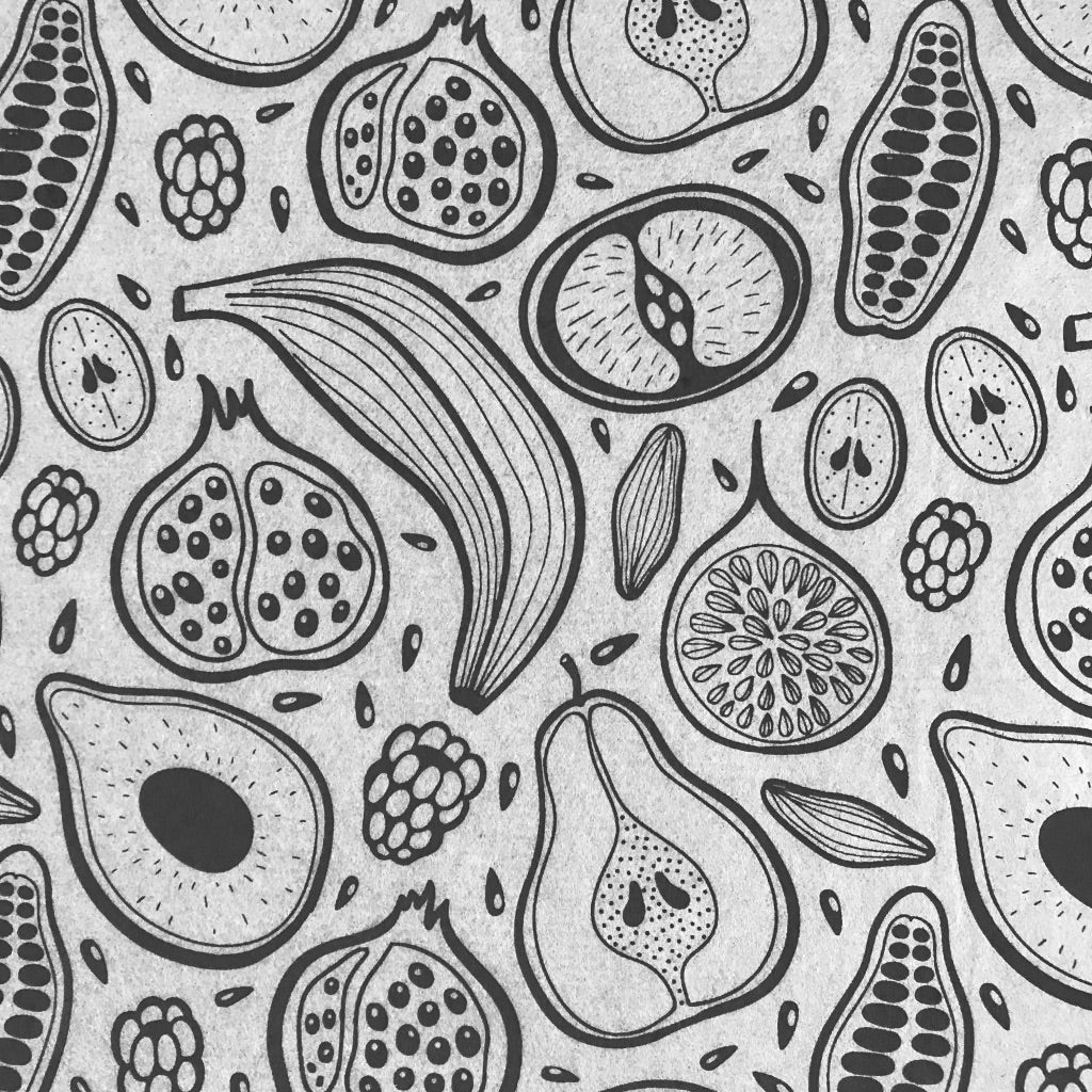 Fruit - Underglaze Transfer Sheet - Black