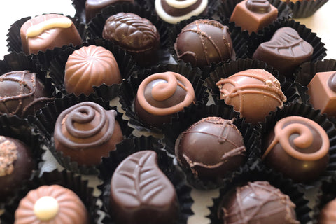 Sugar free chocolate truffle selection.