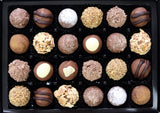 Milk Chocolate Truffles Selection in a gift box.