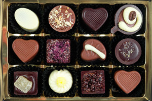 selection of chocolates and fudge