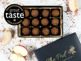 box of 12 Great Taste award winning Norfolk Apple truffles
