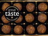 box of 12 award winning Norfolk Apple truffles close up