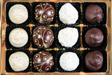 box of 12 liqueur chocolates