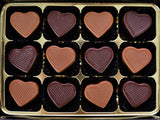 Chocolate Gifts - 12 Mixed Caramel Hearts.
