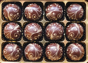 Cherry and Kirsch Liqueurs handmade truffles by The Pod Chocolates.