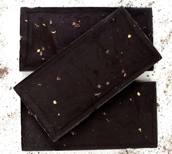 Dark chilli vegan chocolate bars.