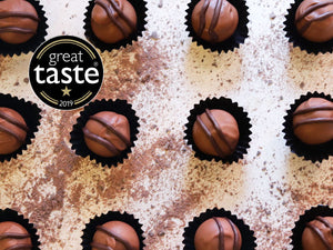 Intense Orange Chocolate Truffles by The Pod Chocolates.