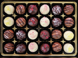Caramel Truffles Selection in  a big gift box.